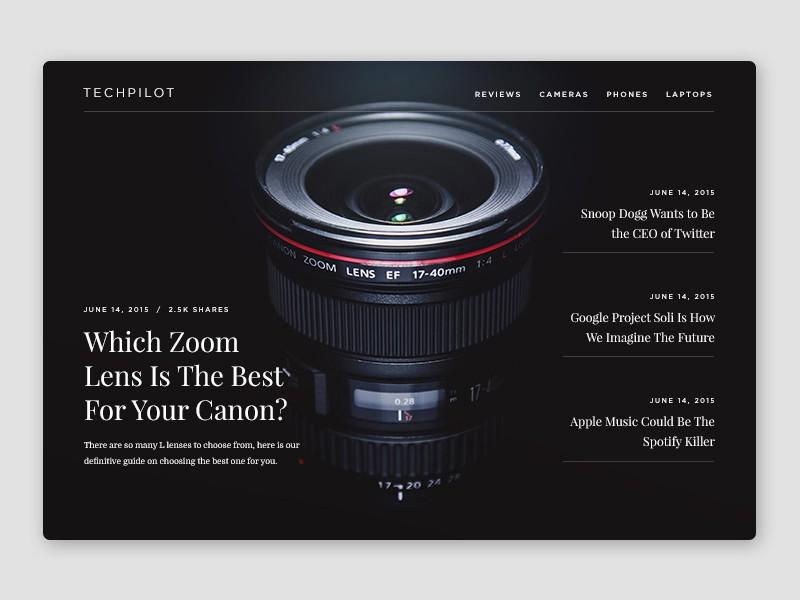 TechPilot Homepage by Oliur