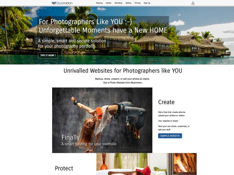 Professional photo hosting and sharing. Create your own photography website, sell photo and video downloads online. Free plan.
