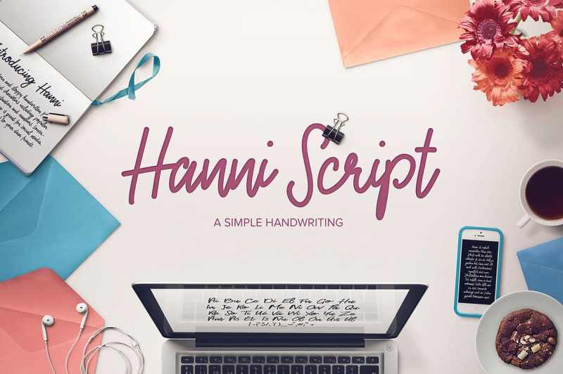 CHARACTERS: Hanni contains all standard characters, lower- and uppercase, numbers, punctuation and popular international characters. Please take a look at the reference sheet here