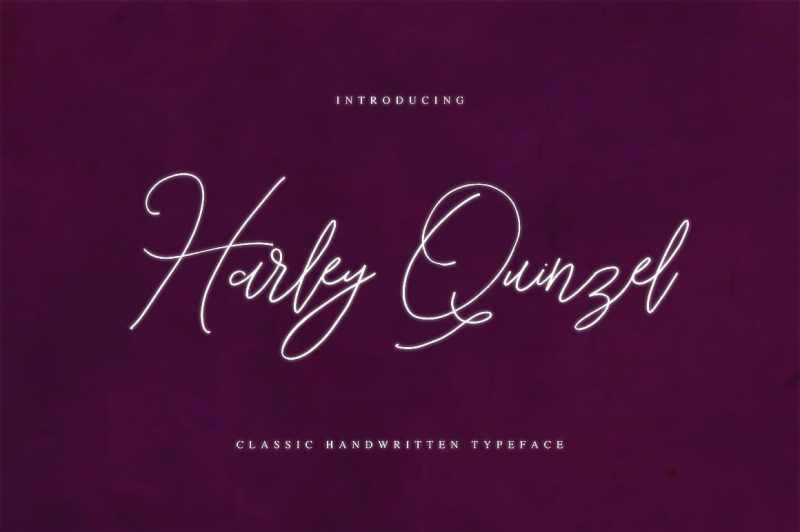 Harley Quinzel font is a hand-made font created by using thick marker.