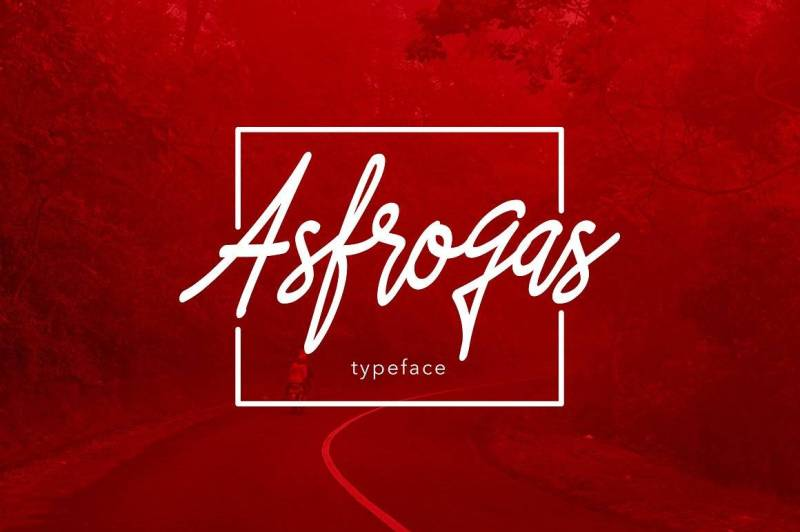 Asfrogas Typeface - Script Like Save Asfrogas Typeface - Script - 1 Asfrogas Typeface - Script - 2 Asfrogas Typeface - Script - 3 Asfrogas Typeface - Script - 4 Asfrogas Typeface - Script - 5 Asfrogas Typeface - Script - 6 Asfrogas Typeface - Script - 7 introducing Asfrogas typeface using style hand writing. This font type is suitable for designs that have friendly concepts and little has particularly stubborn character.