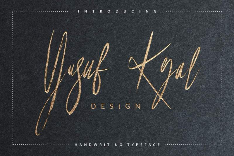 Yusuf Kral artistica font is a hand-made font created by using thick brush. It is a signature font that the thickness of lines are charming. It can be easily used for t-shirts, bags, invitations and so on... It is becoming more interesting with special characters.