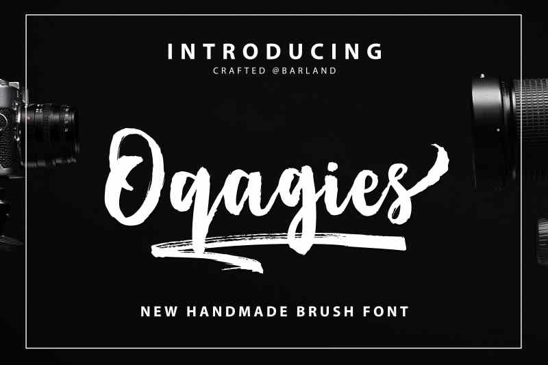 """ Oqagies Brush "" is a hand-made marker pen fonts, designed to create stunning hand-lettering quickly and easily. Also comes with 17 bonus, ideal for giving your text that final touch of finesse! Perfect for projects brands, the title, logo, correspondence, signage, labels, newsletters, badges, t-shirt, logos, product packaging, posters, news, blogs, everything including personal charm."