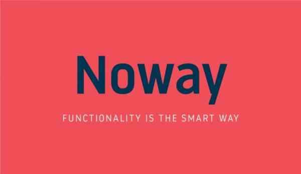Noway – Free Corporate Signage Typeface