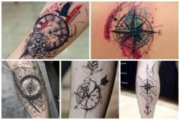 Cool Compass Tattoo Ideas