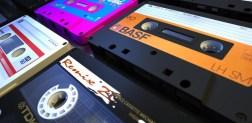analogue antique audio cassettes