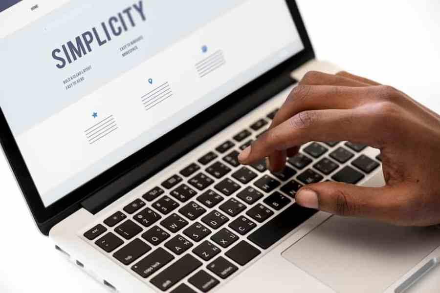 Website Design Mockup Idea on Laptop Screen