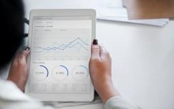 Business growth seen on an ipad
