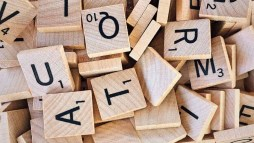 alphabet board game close up