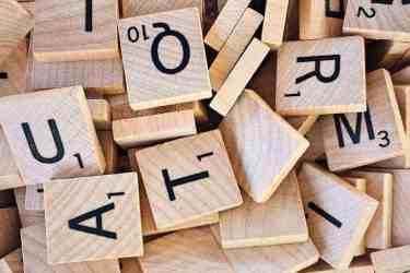alphabet board game close up