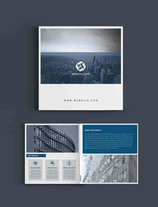 Free Square Architect Brochure Template