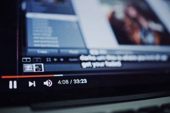 Youtube user interface close up