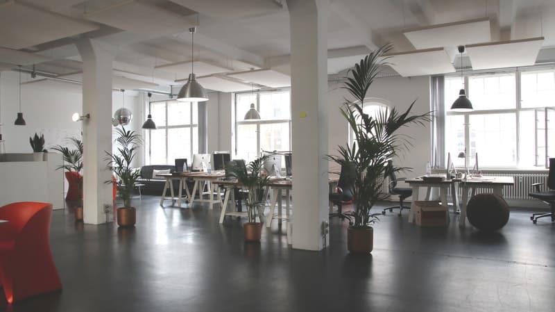 inside a startup office
