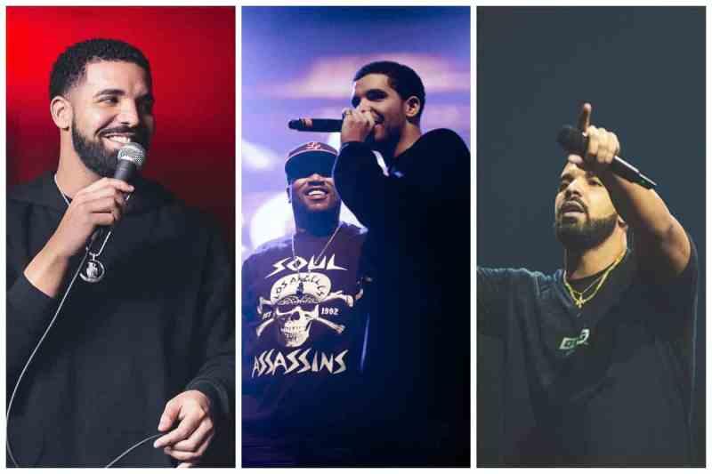 Drake Concert Collage