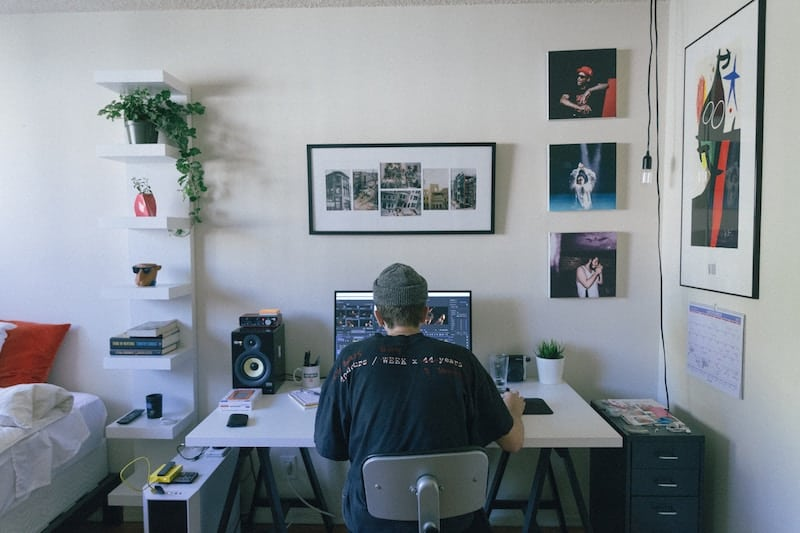 Designer Working Inside His Home Office