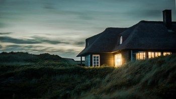 Home Exterior During a Moody Sunset