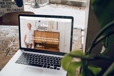 Modern Website on a Macbook Pro