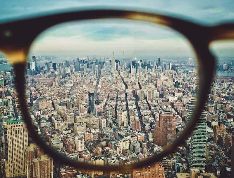 NYC seen through reading glasses