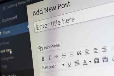 Create a New Blog Post Inside Wordpress