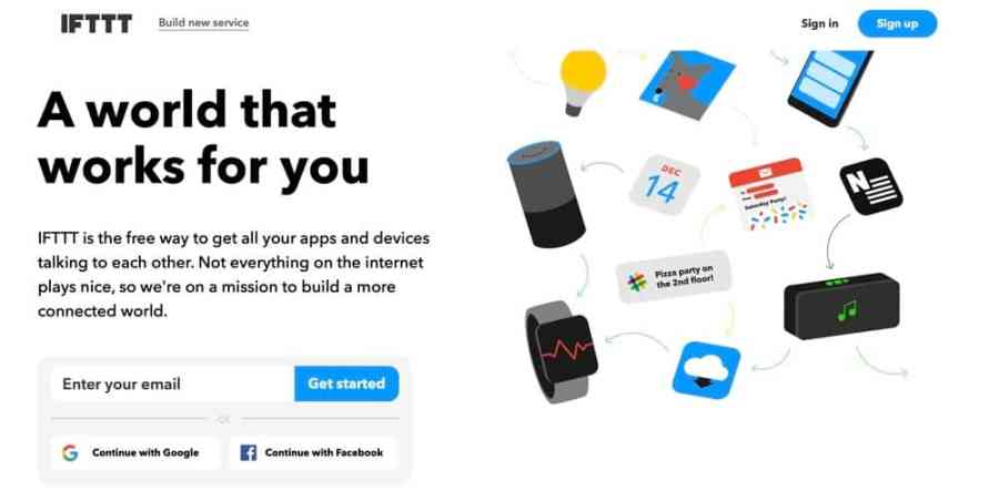 IFTTT (if this, then that) is the easy, free way to get your apps and devices working together. The internet doesn't always play nice, but we're here to help.