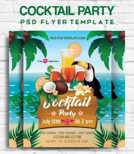 FREE COCKTAIL PARTY FLYER IN PSD
