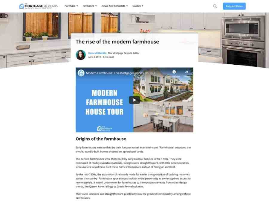 The rise of the modern farmhouse | Mortgage Rates, Mortgage News and Strategy -The Mortgage Reports