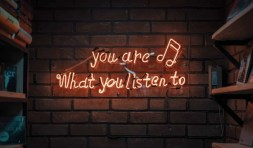 You are what you listen to neon sign