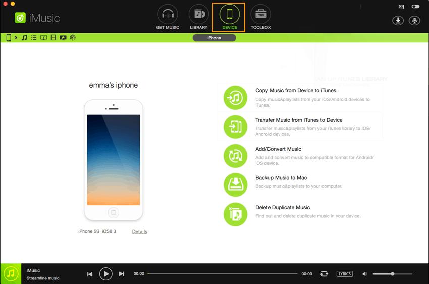 iMusic Screenshot