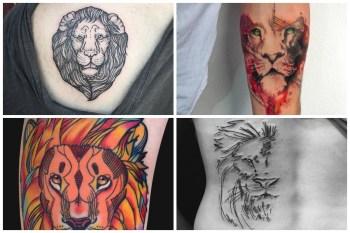 Fierce Lion Tattoos