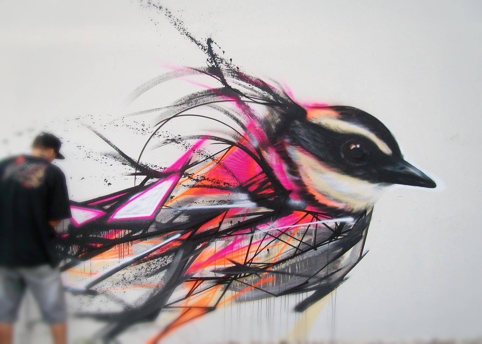 Graffiti Birds By Brazilian Artist L7m  Inspirationfeed