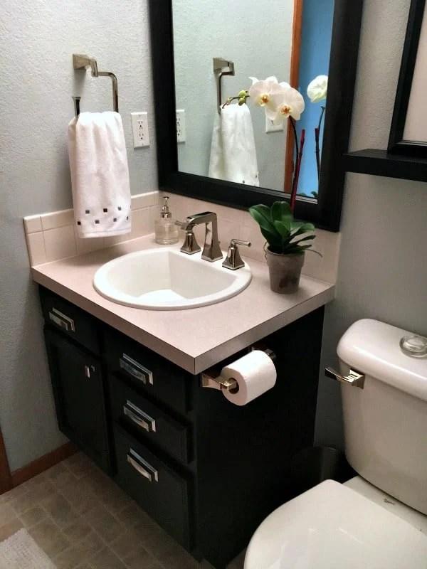 Half Bathroom Remodel Inspiration For Moms