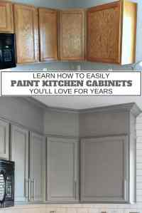How to Easily Paint Kitchen Cabinets You Will Love ...