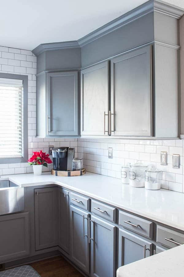 kitchen cabinet painting ideas best drop in sinks how to easily add height your cabinets ...