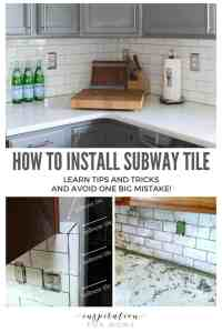 Tips on How to Install Subway Tile Kitchen Backsplash
