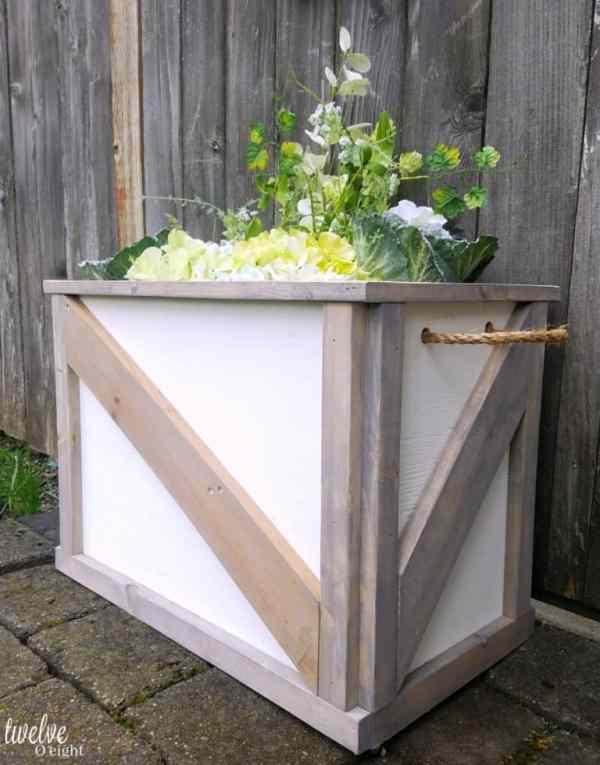barn door style planter