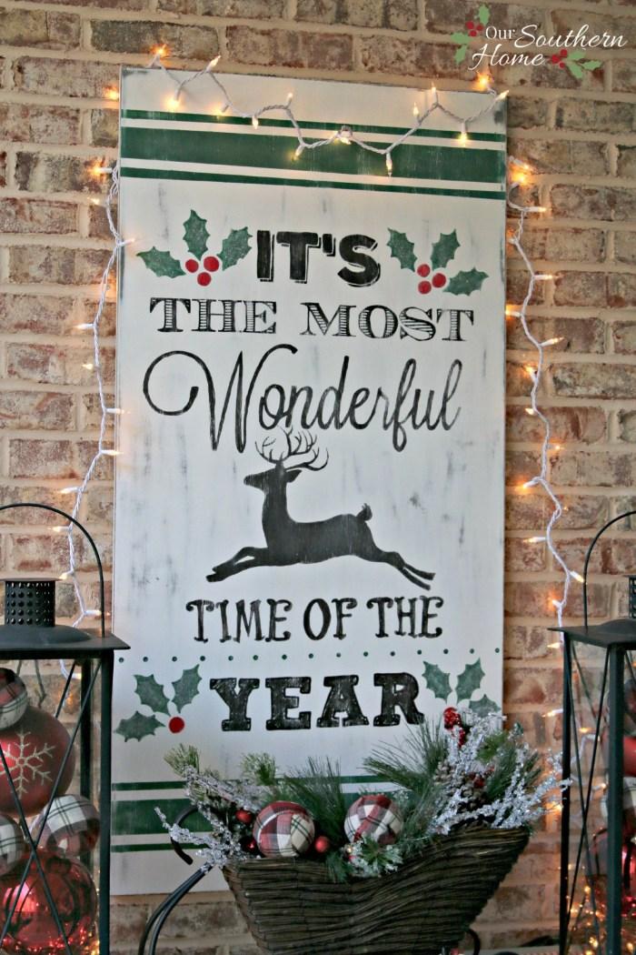Vintage Christmas Sign
