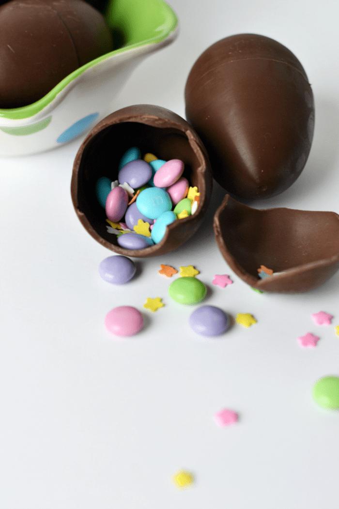 Chocolate Confetti Easter Eggs
