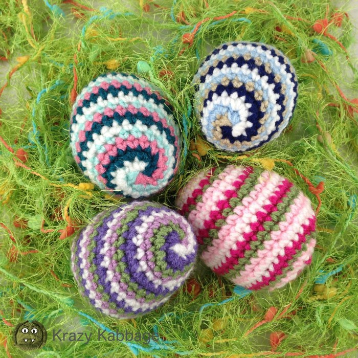 Crochet Spiral Easter Eggs