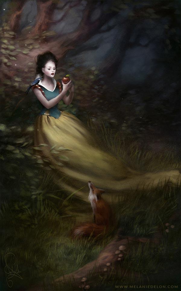 Beast 3d Wallpaper Melanie Delon Creates Disney Princesses In Her Own
