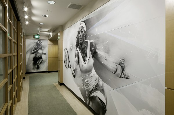 Alexis Marcou Design Wall Graphics Nike 4d Offices In