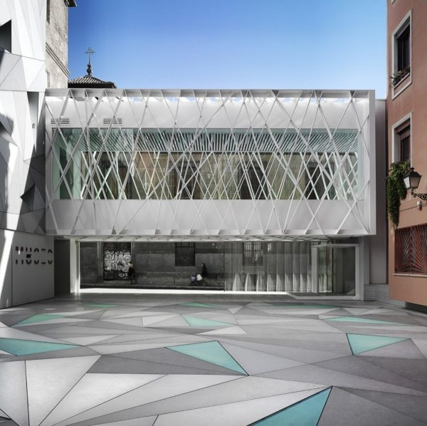 Light-supplying Triangular Holes Define Madrid' Abc Museum Facade Inspirationist