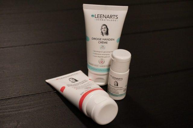 Beschermende barrière crème, droge handen crème, bad & douche olie dr leenarts