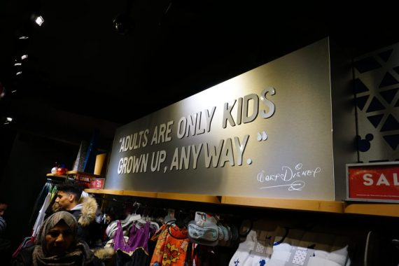 Disney store London Oxford Street - Adults are only kids grown up, anyway