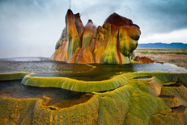 Fly Geyser Unique Hot Shower With Rainbow Colored