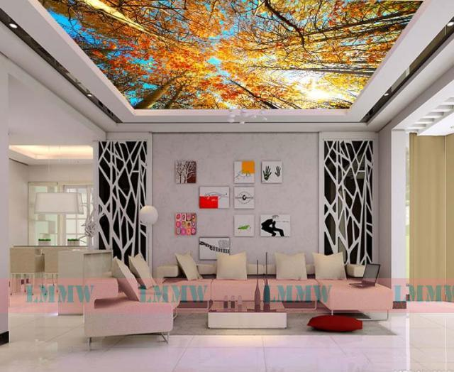 ideas for walls in living room complete packages 27 ceiling wallpaper design and - inspirationseek.com