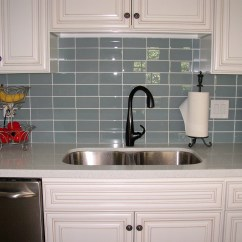 Black And White Tile Kitchen Backsplash Corner Sink Make The More Beautiful