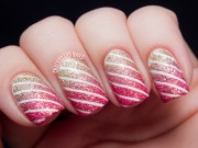 striped nail design and ideas