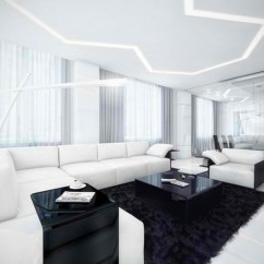 Living Room And Kitchen Divider Design Window Coverings For Large Black White Ideas ...