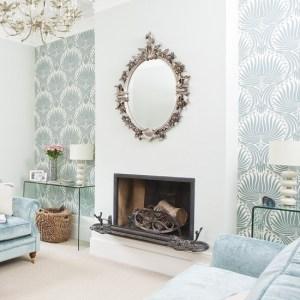 living elegant modern fireplace beside housetohome rooms designs wall classy livingroom pattern inspirationseek walls decor decorate alcoves decorating around fire