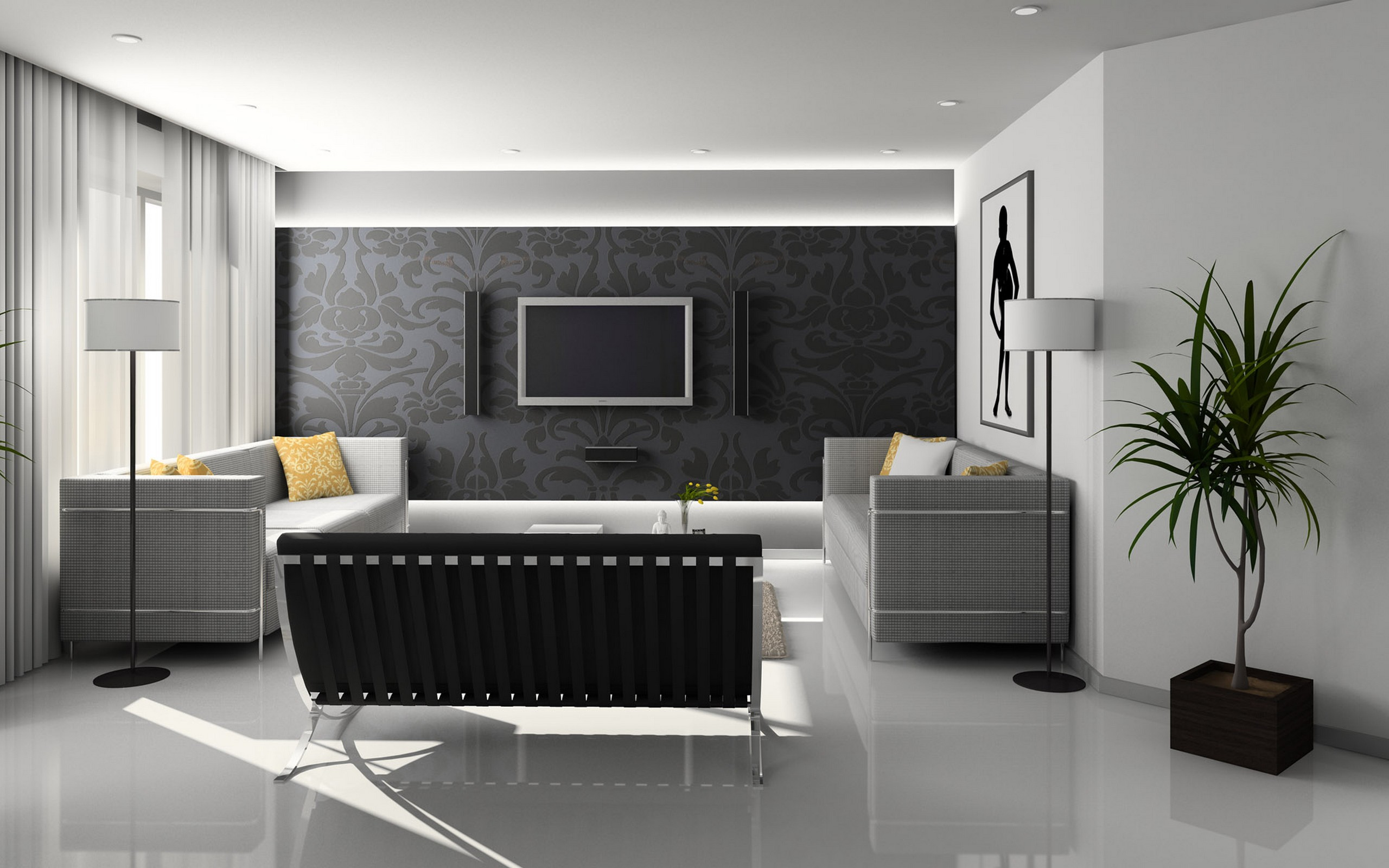 Wallpaper Design For Living Room that Can Liven Up The Room  InspirationSeekcom